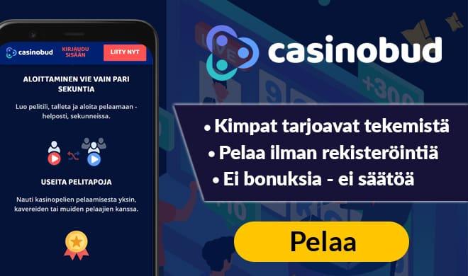Kerää kokemuksia kimppa kivasta Casino budilla