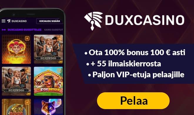 Dux Casino tarjoaa hyvät edut uusille pelaajille