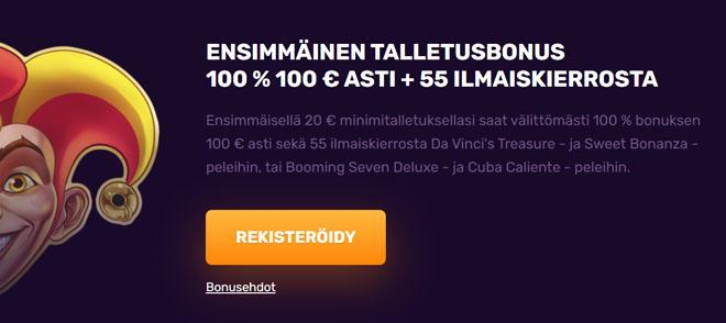 Dux Casino tarjoaa 100% bonuksen 100 e asti