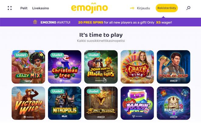Kävimme tutkimassa uuden Emoji Casinon aulaa