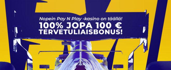 Race Casino 100% bonus on loistava tapa aloittaa pelaaminen