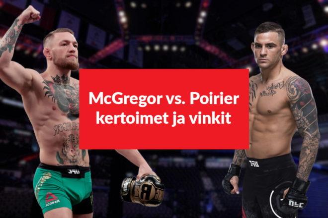 McGregor vs. Poirier kertoimet on julkaistu 2021