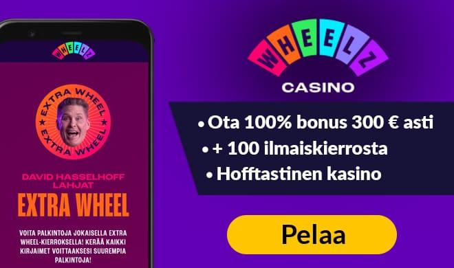 Kokeile Wheelz Casinoa jo tänään