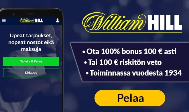 Kokeile WilliamHill pikakasinoa jo tänään