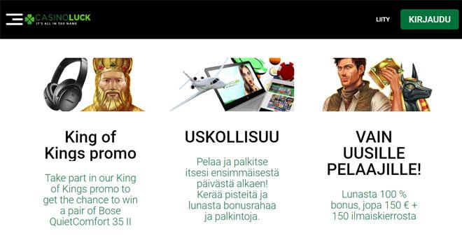 Sivustolta löytyy useita eri kampanjoita