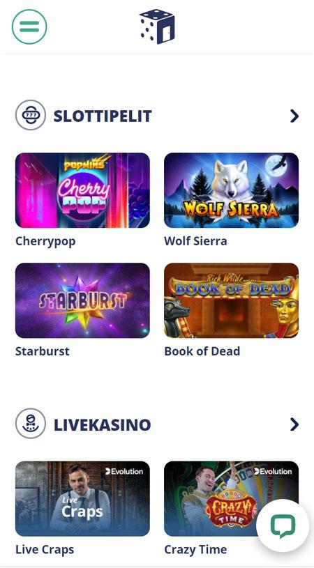 Casinoroom toimii erittäin hyvin myös mobiilissa