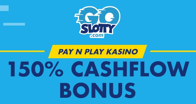 GoSlotty 150% cashflow bonus