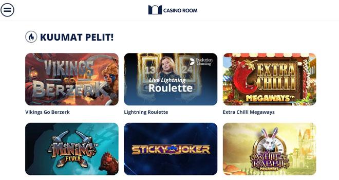 Casinoroom kuumat pelit kategoria on yksi tämän sivun parhaista ominaisuuksista