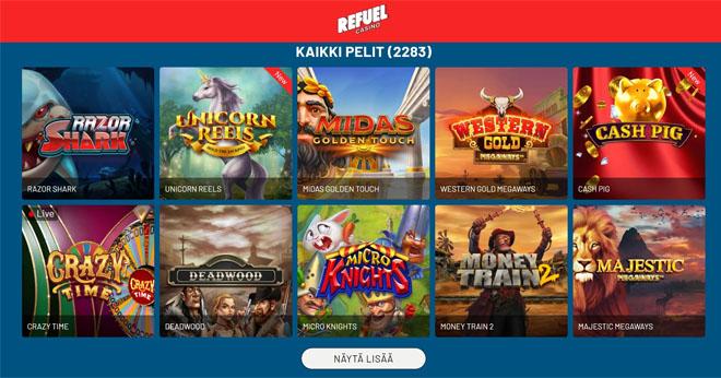 Kävimme tutkimassa sitä, että miltä Refuel Casino näyttää pelaajan kannalta