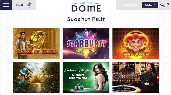 Esittelyssä CasinoDome sivusto