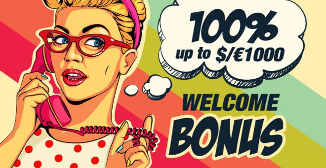 Rant Casino 100% non-sticky bonus on voimassa 1 000 euron talletukseen asti