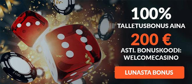 XPlayBet casino tuplaa talletuksesi jopa 200 € asti