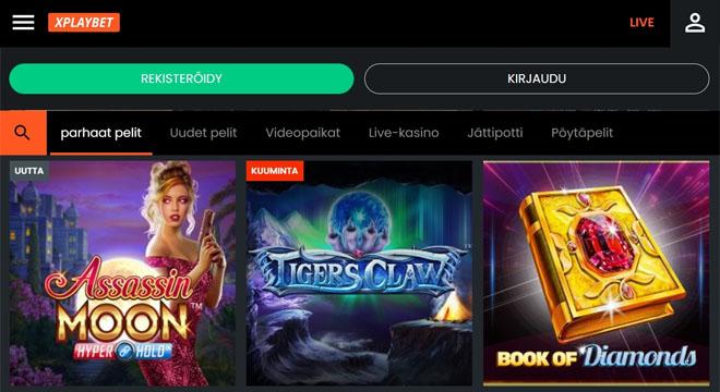 XPlayBet kasinon aula on varsin tyylikäs