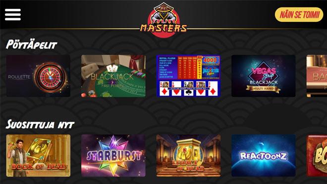 Esittelyssä Casinomasters kasino
