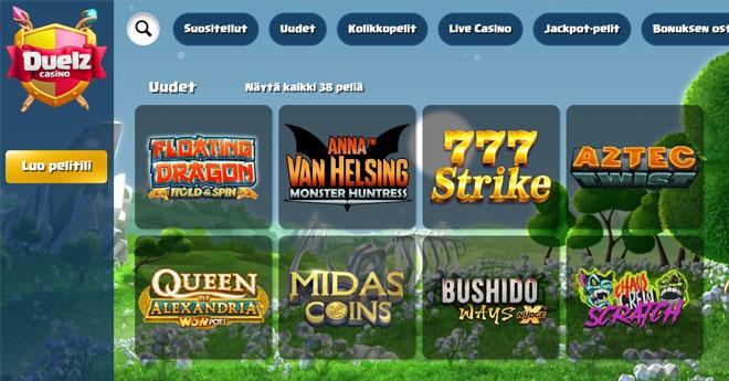 Keräsimme kokemuksia Duelz Casinosta