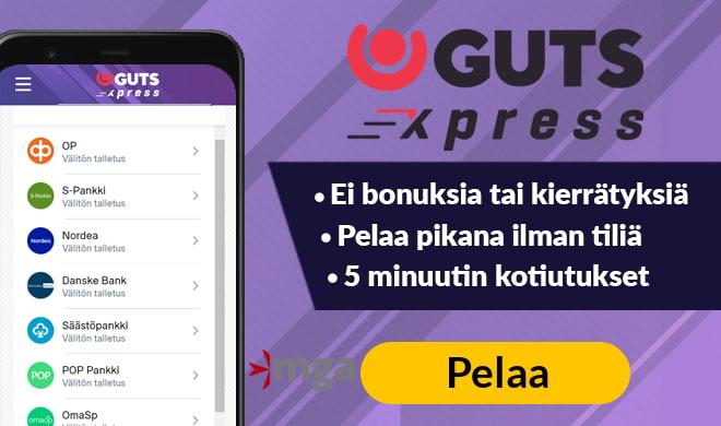 Pelaa pikana ilman rekisteröintiä GutsXpress kasinolla