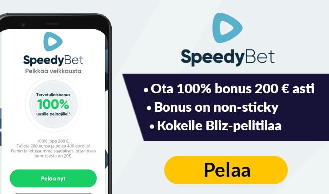 Ota Speedybet non-sticky bonus nyt