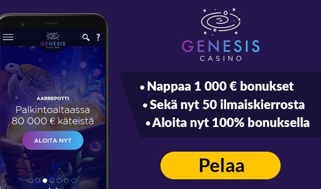 Nappaa nyt Genesis Casinon tarjoamat edut