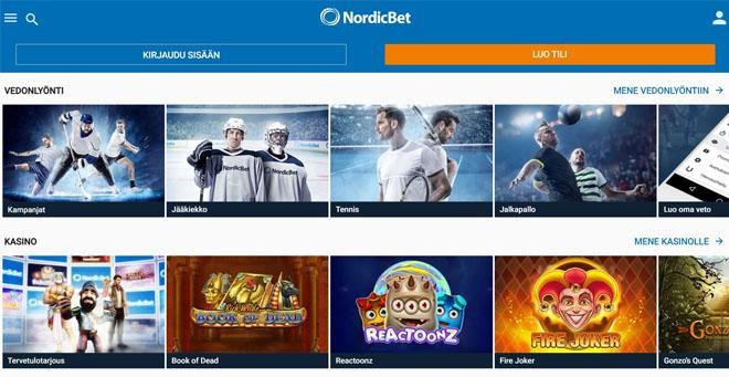 Esittelyssä Nordibet kasinon aula