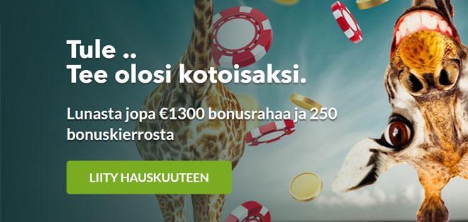 Skol Casino bonus juuri nyt on 100 prosenttinen aina 300 euroon asti