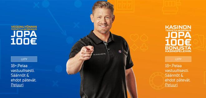 STSBet tarjoaa 100% bonuksen vedonlyöntiin sekä kasinolle