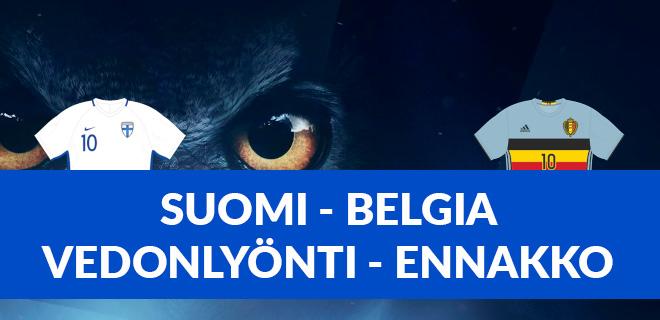 Suomi Belgia ennakko em 2021