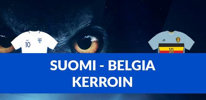 Suomi Belgia kerroin EM kisat