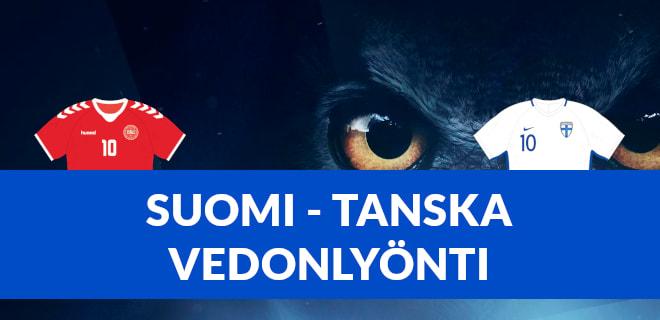 Suomi Tanska vedonlyönti ja bonukset jalkapallon EM kisat 2021 12.6.2021
