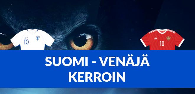 Suomi - Venäjä kertoimet EM jalkapallo-otteluun 16.6.