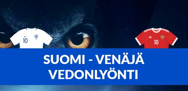 Suomi - Venäjä vedonlyönti ja bonukset löydät tästä