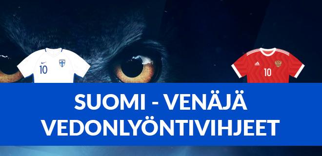 Katso parhaat Suomi vs Venäjä vedonlyöntivihjeet EM 2021