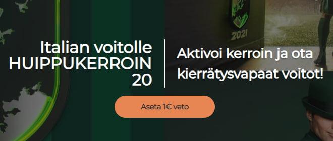 Mr Green 20 kerroin Italia - Itävalta otteluun
