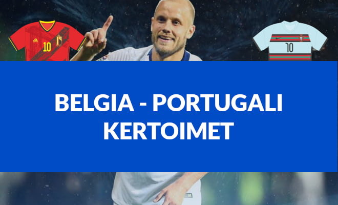 Belgia - Portugali kertoimet EM-kisojen otteluun 27.6.