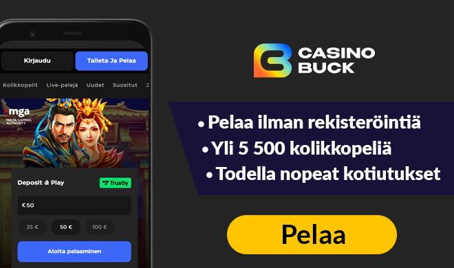 Kokeile uutta CasinoBuck sivustoa nyt