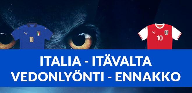 Ennakko Italia - Itävalta EM-otteluun