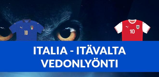 Italia Itävalta vedonlyönti - katso parhaat vedonlyöntibonukset
