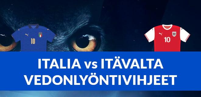 Lue Italia vs Itävalta vedonlyöntivihjeet