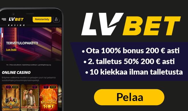 Nappaa LVBet 100% bonus aina 100 € asti