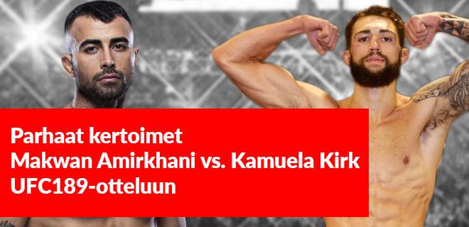 Amirkhani - Kirk kertoimet UFC