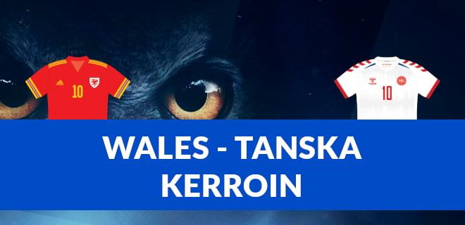 Paras Wales - Tanska kerroin EM-kisat otteluun 26.6.2021