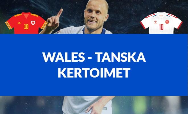 Wales - Tanska kertoimet EM-kisat