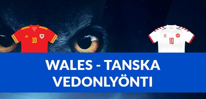 Vedonlyönti Wales - Tanska EM-otteluun tarjoaa hyvät bonukset