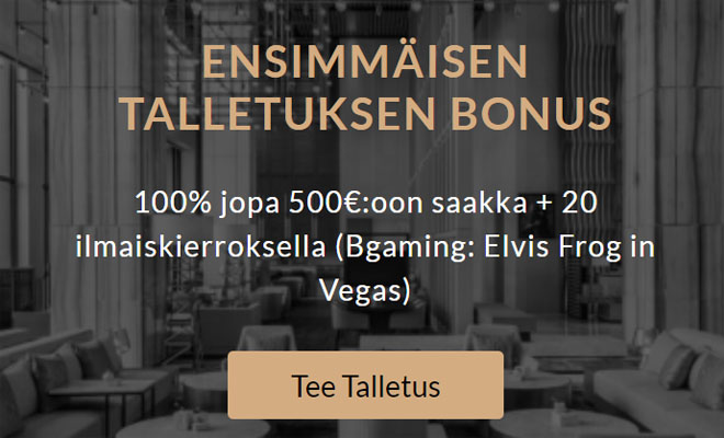 Nappaa nyt Premier Casino 100% talletusbonus 500 € asti