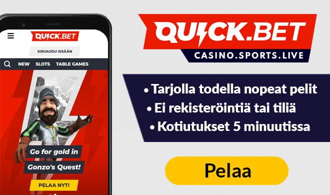 Kokeile Quickbet Casinoa jo tänään