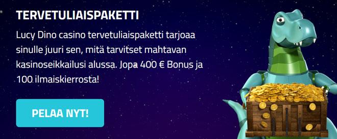 Aloita pelit jopa 400 € arvoisilla bonuksilla