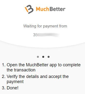 Odota hetki että saat tekstiviestin MuchBetteriltä