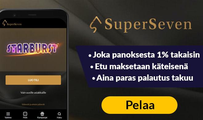 SuperSeven casino tarjoaa monipuoliset bonukset
