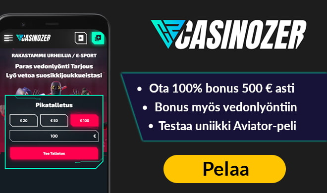Casinozer tarjoaa 23