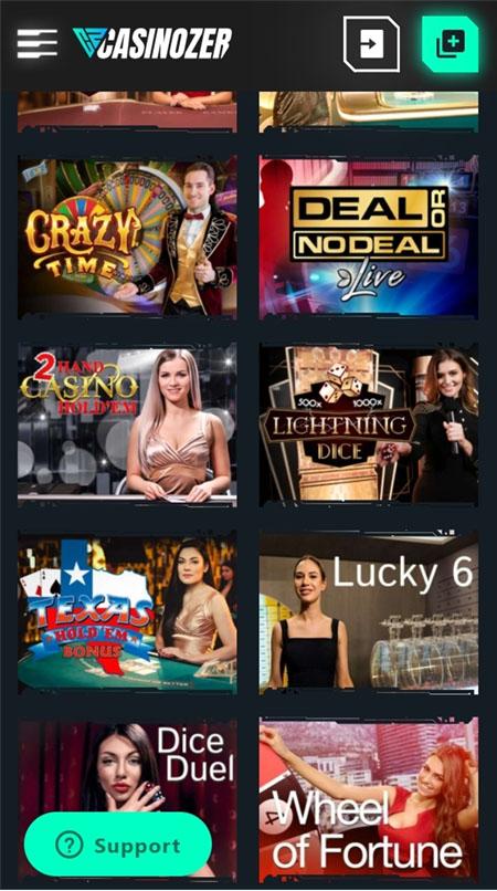 Casinozer pelit toimivat myös puhelimella