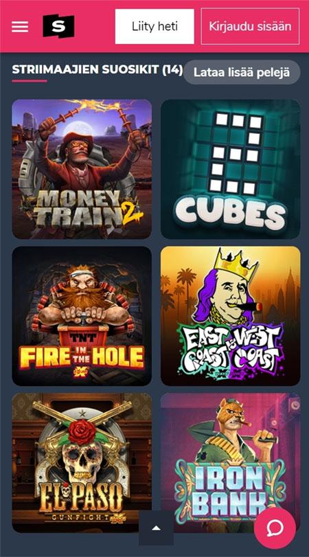 Supremo Casinon pelit toimivat hyvin myös puhelimella